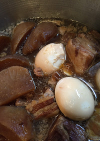 無添加 簡単 圧力鍋 豚角煮 豚大根煮