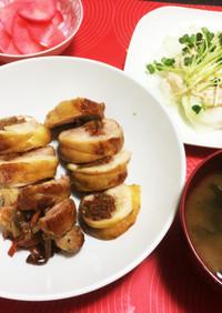 お弁当にも☆きんぴらごぼうの鶏肉巻き