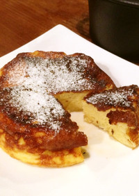 ココット鍋とコンロでフレンチトースト