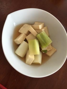 フライパンでできるネギと豆腐の甘煮♡