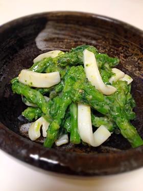 京風★菜の花とイカの辛子酢味噌和え