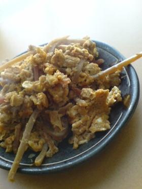 キンピラの卵炒め