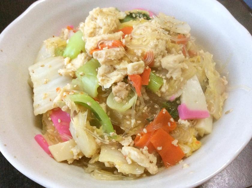 冷凍豆腐と大量白菜であんかけ春雨