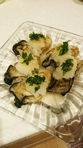 牡蠣のさっぱり焼き