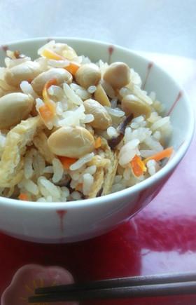 大豆ご飯【柏市学校給食】