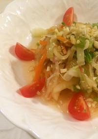 ヤーコンで青パパイヤ風サラダ