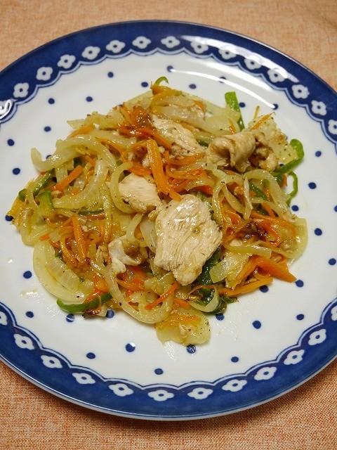 簡単!肉野菜炒め(ガラムマサラ風味)