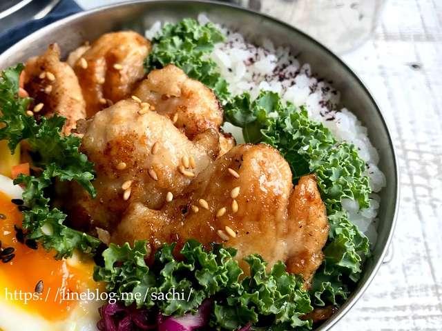お弁当に!鶏むね肉のバターポン酢炒め