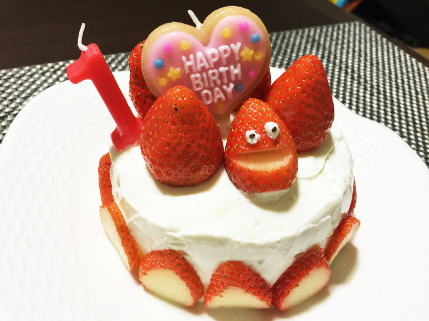 【離乳食】*バースデーケーキ*1歳