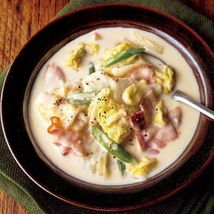 白菜とベーコンのチーズクリーム煮