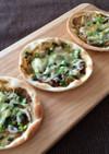 海苔の佃煮としらすのピザ