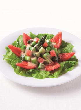 まるごとトマトときゅうりとアスパラサラダ