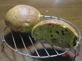 抹茶あずきパン