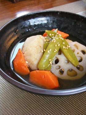 無農薬のヤツガシラ(里芋)と根菜の煮しめ