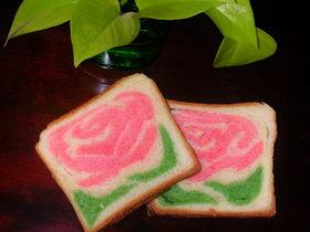 母の日にお花のレンジパン♪