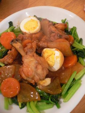 ★揚げ鶏の中華炒め煮★