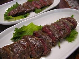 オージービーフの山椒味噌ステーキ