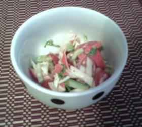 ピリ辛★カニカマサラダ