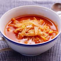 キャベツとごぼうのトマトスープ