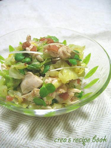 キャベツと鶏肉のさっぱりサラダ