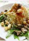 いわしの煮つけリメイク野菜たっぷりサラダ