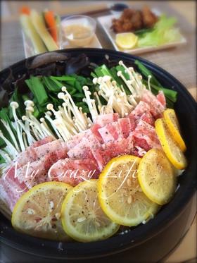 塩レモンの豚バラにんにく鍋