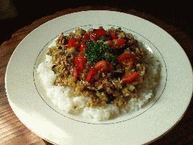 茄子キーマ・カレー
