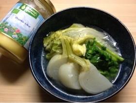 簡単白菜とカブの和風バター(ギー)煮