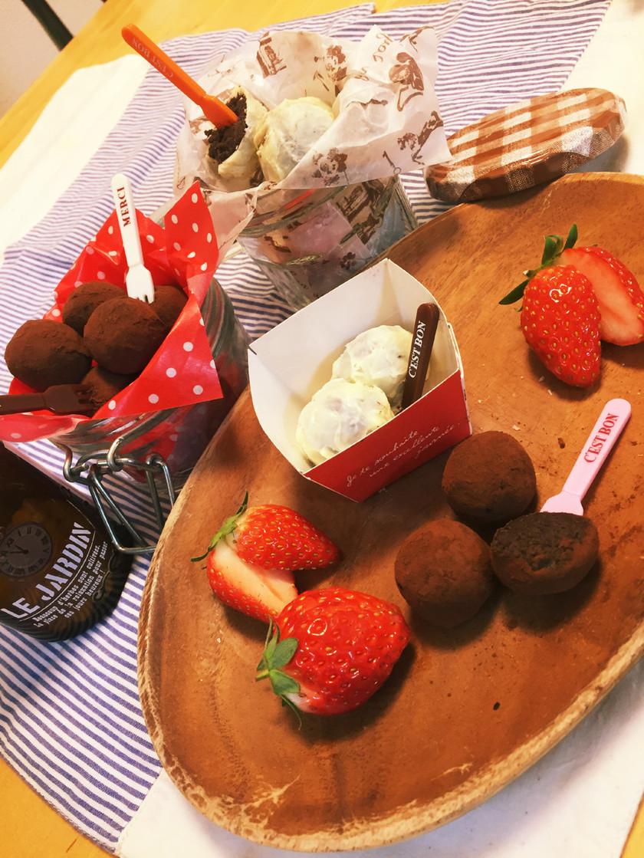 バレンタインに♪子供も簡単トリュフケーキ