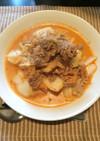 キムチ鍋の残り物で!豚キムチの豆乳スープ