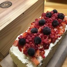 低糖質 簡単 おからの苺のケーキ