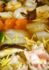 鍋★お雑煮風【ゆず風味香る焼きモチ鍋】♪