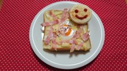 フライパンでカルボナーラトースト!の写真