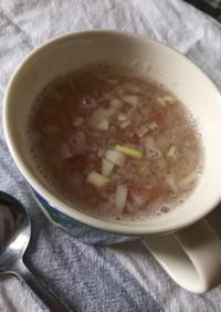 二日酔い風邪に大根おろし梅のスープ