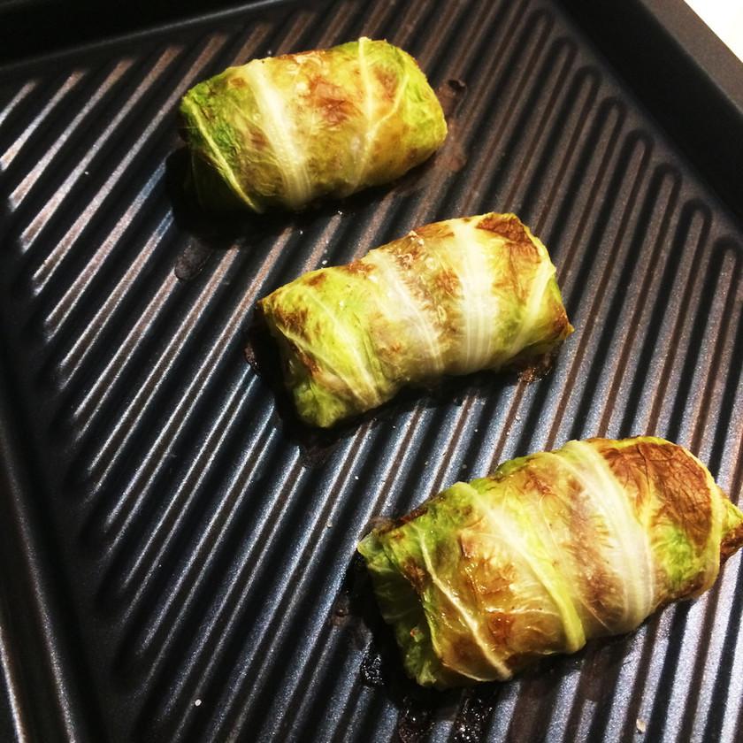 冬野菜で焼きロール白菜