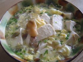 ザーサイと豆腐の中華スープ