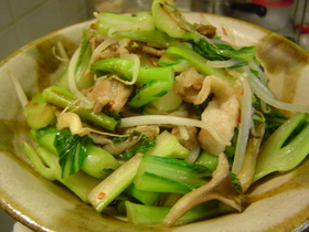 青菜のタイ風炒め