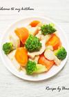 ごろごろ野菜と鶏胸肉の味噌照り焼き炒め