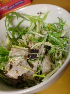 シャキシャキ水菜とタコのサラダ