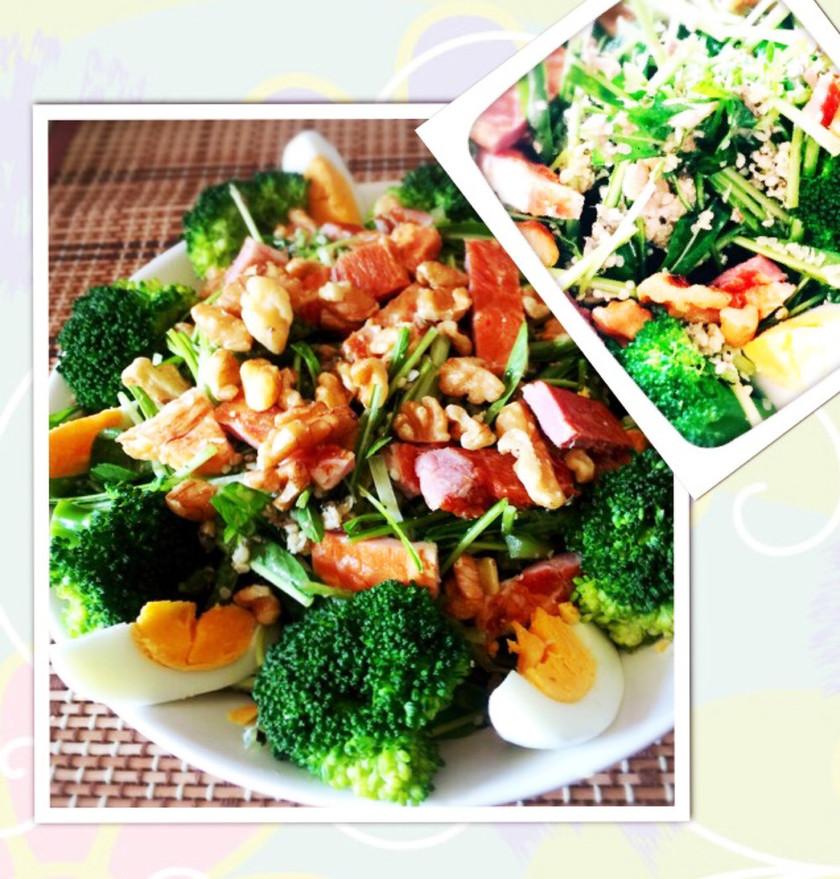 オメガ3★ケトジェニックな水菜サラダ