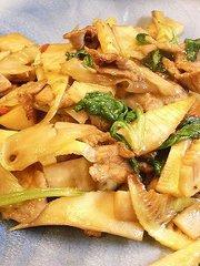 筍の中華風セロリ炒めの写真