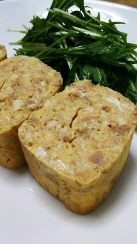木綿豆腐とシーチキンのたまご焼き