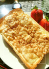 白小豆×けしの実のチーズシュガートースト