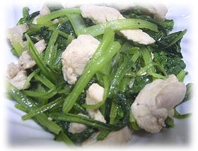 鶏胸肉と小松菜で今夜のおかず