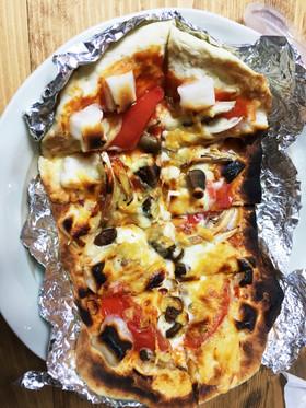 発酵なし!手作りピザ生地を魚焼きグリルで
