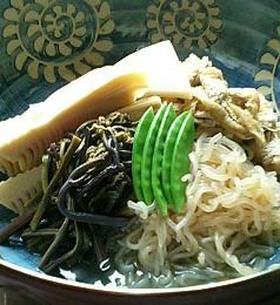 筍とわらびの煮付け