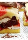 市販ロールケーキで!失敗しない3段ケーキ