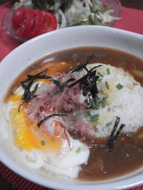 カレー鍋お掃除レシピ★和風カレースープ飯