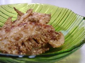 筍のニンニク炒め胡麻風味