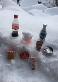 お風呂で天然雪カキ氷